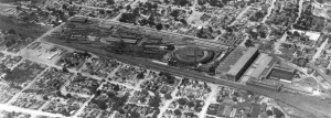 A historic aerial shot of the Albuquerque Rail Yards AT SF rail yard 1930 Frank Speakman The Frank Speakman Collection