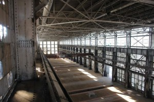 The former machine shop will be rehabilitated into commercial space. Image courtesy of Eric Owen Moss Architects