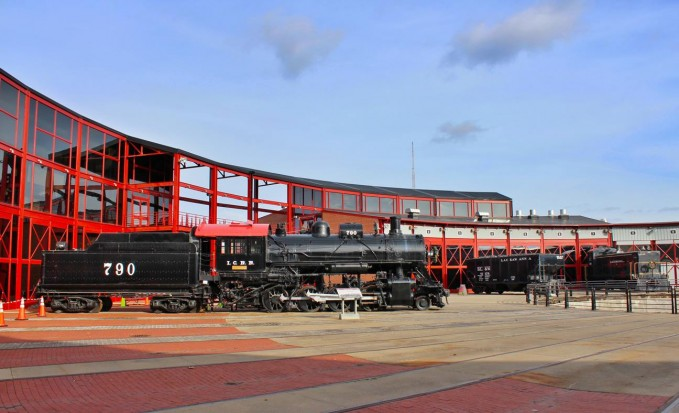 Steamtown showing part of their roundhouse and turntable next to the Expo!